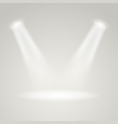 bright stage with projectors light effect vector image vector image