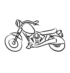 The chopper motorcycle vector image