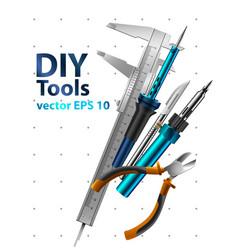 diy tools vector image vector image