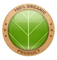Icon of organic products vector image vector image