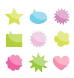 shapes speech bubbles vector image