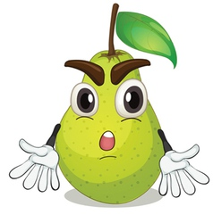 a pear vector image vector image
