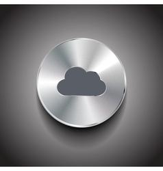 metal cloud button vector image