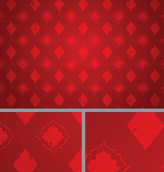 Red Vintage Diamond Distressed seamless Background vector image vector image
