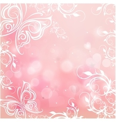romantic pink background vector image vector image