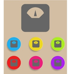 Scale icon with color variations vector image