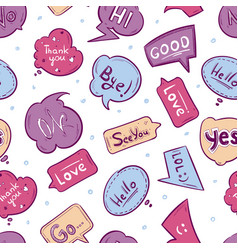 seamless pattern with speech bubbles vector image vector image