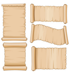 ancient parchment scrolls aged scrolling vector image