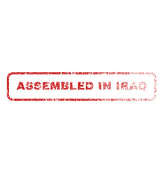 assembled in iraq rubber stamp vector image vector image