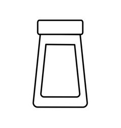 outline bottle glass cover plastic object icon vector image vector image