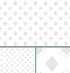 White Vintage Poker Diamond Distressed Background vector image