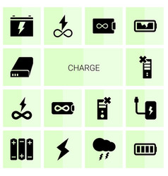 14 charge icons vector