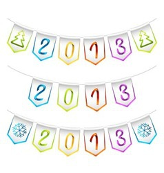 2013 design bunting flags vector image