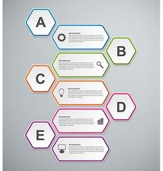 Abstract 3D hexagon business options infographics vector