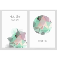 Abstract brochure and flyers in polygonal style vector