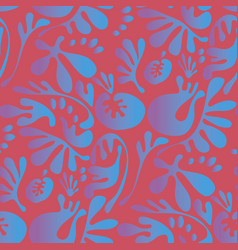abstract fantasy tropical colors floral motif vector image