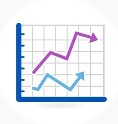 Arrow growing upward on graph vector image