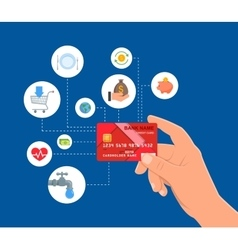 Bank Credit card payments concept vector