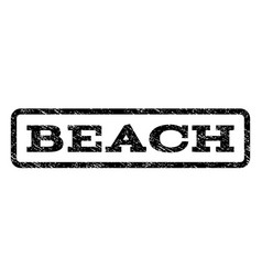 Beach watermark stamp vector
