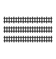 black picket fence symbols and signs isolated vector image