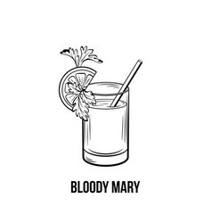 bloody mary hand drawn vector image