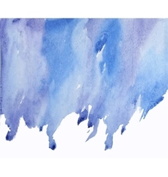 blue abstract watercolor on wet spot vector image