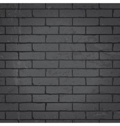 Brick wall dark gray background vector