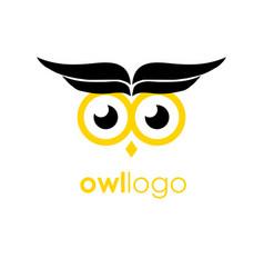 Business corporate owl logo design wise vector