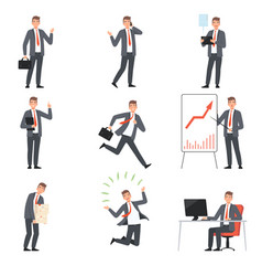 businessmen characters people in business suits vector image