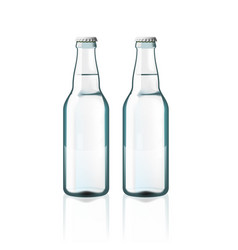 clear water glass bottles isolated on white vector image