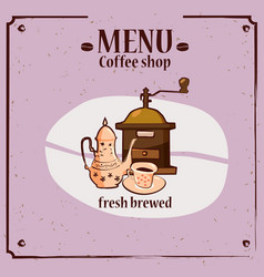 coffee menu template for coffee shop with coffee vector image
