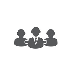 Collaboration icon on white background vector