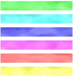 Colored banner background set vector image
