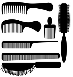 comb silhouette vector image