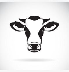 Cow head design on white background farm vector