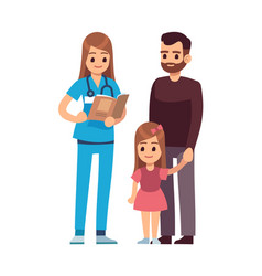 doctor and patients female doctor pediatrician vector image