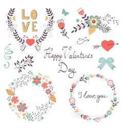 Elegant romantic collection vector image