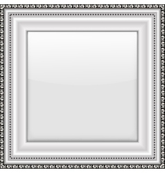 Empty silver picture frame vector