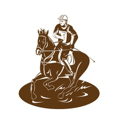 Equestrian riding horse vector