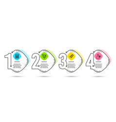 Fast payment balloons and calculator icons vector