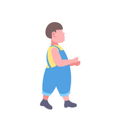 fat boy walking obese character concept full vector image
