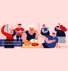 Gluttony and people vector