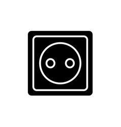 Glyph electric outlet symbol power socket vector
