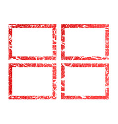 Grunge red frame banners logos icons labels vector