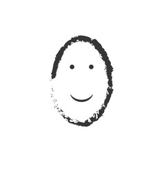 happy emoticon drawing isolated on white vector image
