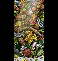 Hawaii hand drawn doodle banner cartoon detailed vector