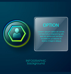 hexagon contact pictogram background vector image