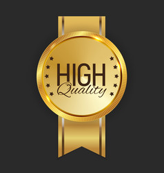 high quality golden label sign vector image