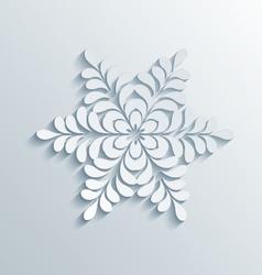 Holiday 3D Snowflake vector image