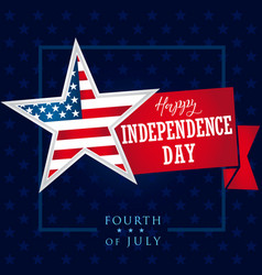 Independence day usa fourth july star banner vector